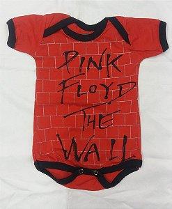 Body para bebês - Pink Floyd - The Wall Vermelho