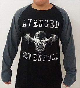 Camiseta manga longa raglan Avenged Sevenfold - A7x