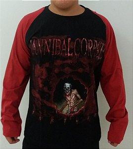 Camiseta manga longa raglan - Cannibal Corpse - Torture