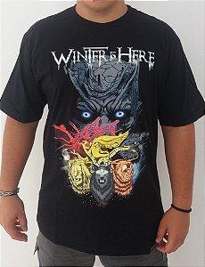 Camiseta Game of Thrones - Winter is Here