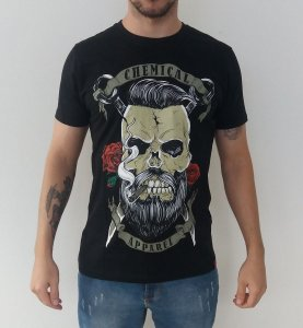Camiseta Chemical Apparel Bearded Skull