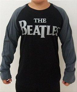 Camiseta manga longa raglan The Beatles