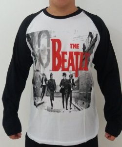Camiseta manga longa raglan - The Beatles - A Hard days night
