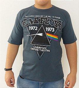 Camiseta Pink Floyd - The Dark Side Of The Moon - Cinza