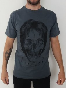 Camiseta John Lennon - Imagine -  Cinza