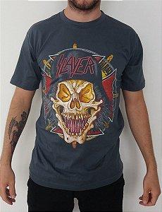 Camiseta Slayer - Cinza