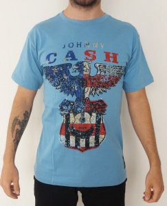 Camiseta Johnny Cash -  Azul
