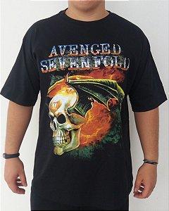 Camiseta Avenged Sevenfold - Caveira