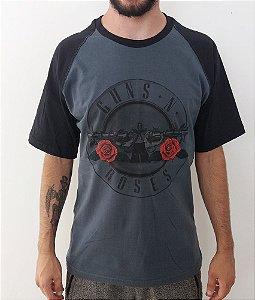 Camiseta Guns And Roses - Símbolo - Raglan