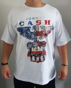 Camiseta Johnny Cash - Branco