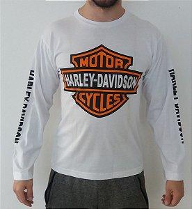 Camiseta Manga Longa - Harley-Davidson - Branca