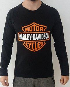 Camiseta Manga Longa - Harley-Davidson - Símbolo