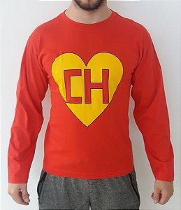 Camiseta Manga Longa - Chapolin - Vermelha