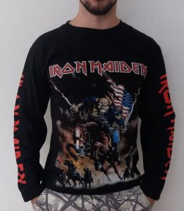 Camiseta Manga Longa - Iron Maiden -  Maiden England