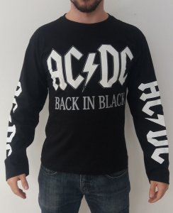 Camiseta Manga Longa - AC DC - Back In Black