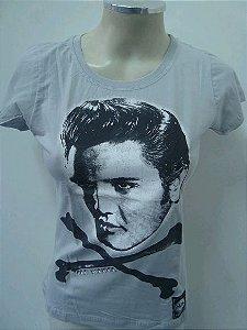 Baby Look Feminina - Elvis Presley - Oldschool - Cinza