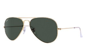 Óculos de sol Ray-Ban polarizado aviador grande RB3025 001/58