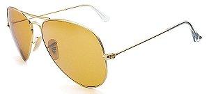 Óculos de sol Ray-Ban polarizado aviador médio RB3025 112/O6