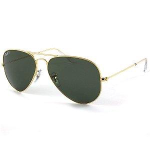 Óculos de sol Ray-Ban aviador médio polarizado RB3025 001/58