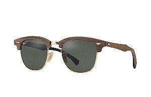 Óculos de sol Ray-Ban Clubmaster Wood Polarizado RB3016M 1181/58 51