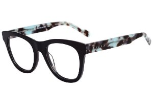 Óculos de Grau Evoke On The Rocks IX A01 Black Shine Temple Blue