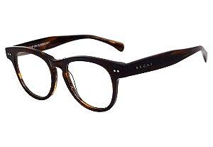 Óculos de Grau Evoke Clip On Classic Black Matte Turtle Gray Polarizado
