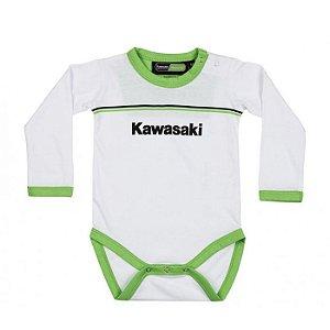 BODY BABY DE MANGA LONGA KAWASAKI SPORTS RANGE - BRANCA