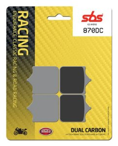 PASTILHAS DE FREIO SBS 870DC RACING CARBONO DUPLO