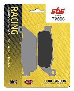 PASTILHAS DE FREIO SBS 700DC RACING CARBONO DUPLO