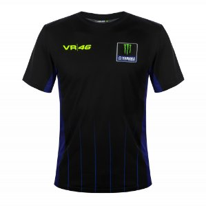 CAMISETA YAMAHA BLACK VR46 MONSTER PRETA