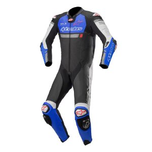 MACACÃO ALPINESTARS MISSILE IGNITION TECH-AIR PRETO/AZUL/BRANCO