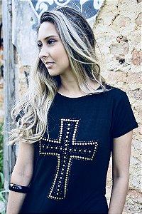 Camiseta feminina Cruz Tachinhas