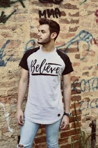 Camiseta masculina haglan belive