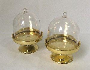Mini Cupula De Brigadeiro Dourada Pct 10 Unids.