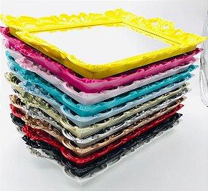 Bandeja Plastico Espelhada Com Pes Decorativa Cores 25x30