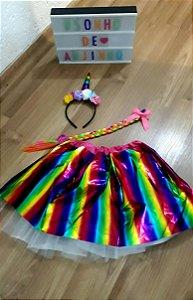 1 Fantasia Unicornio Amor Infantil Festa