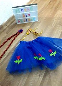 2 Fantasia Elsa Ana Frozen Infantil Festa