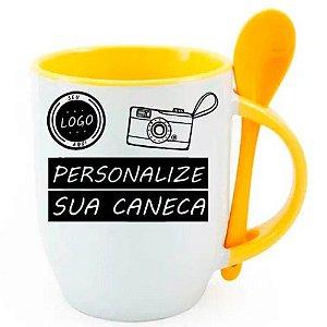Caneca Personalizada - Com Colher Amarela