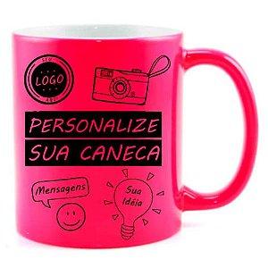 Caneca Personalizada - Neon Rosa