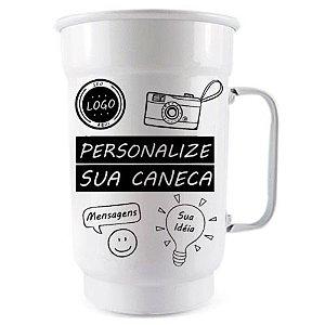 Caneca Personalizada - Alumínio Branca - 750 ml