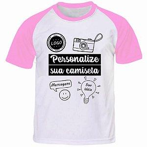 Camiseta Personalizada Manga Curta Colorida - Tamanho (M)