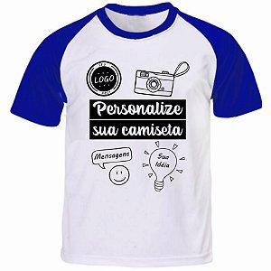 Camiseta Personalizada Manga Curta Colorida - Tamanho (P)