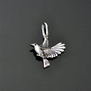 Pingente pombo da paz em prata 950k