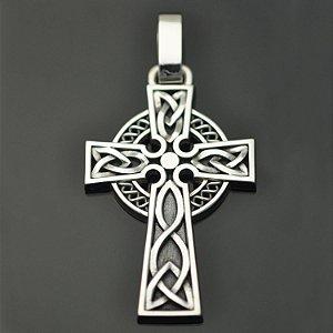 Cruz celta em prata 950k (G)
