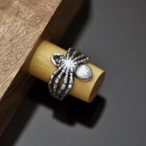 Anel aranha em prata 950k