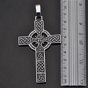 Cruz  Peitoral Céltica em prata