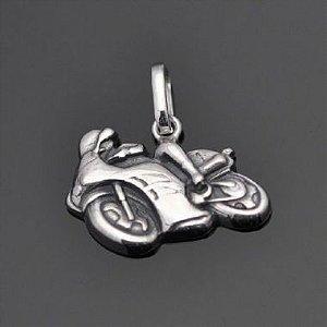 Pingente Moto-velocidade em prata 950k
