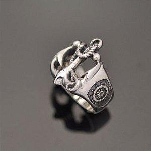 Anel Âncora em prata 950k