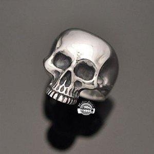 Anel Crânio Caveira sem Mandíbula em prata 950k