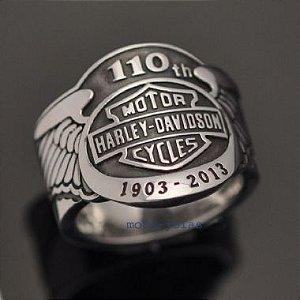 Anel Harley-Davidson 110 Anos em prata 950k